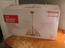 Project Source 5 Light Chandelier Polished Brass Finish Fallsbrook Brand New