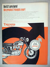 Triumph Motorcycle PRINT AD - 1966