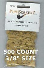 """500 Count 3/8"""" .375"""" 9.5mm BRASS Pipe Screens HIGHEST QUALITY - MADE IN USA!"""