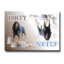BLACK & TAN COONHOUND Clean Dirty DISHWASHER MAGNET Dog