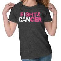 I Can Fight Breast Cancer Inspire Awareness Cute Survivor Womens Tee T Shirts