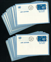 UN Stamps Lot of 26 Scarce Air Letters UC1