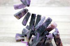 Natural Charoite Flat Nugget Teeth Chip Stick Spike Gemstone Beads - Full Strand