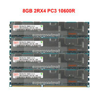 For Hynix 8GB 2RX4 PC3-10600R DDR3-1333MHz ECC REG Registered Server Memory CL9
