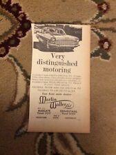 A2j Ephemera 1962 Advert Cresta Car Martin Walter Ltd Margate