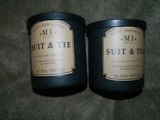 MANLY INDULGENCE 16.5 OZ JAR CANDLE NEIMAN MARCUS SUITE & TIE BROWN LABEL x 2