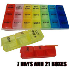 7-Day Pill Box Organizer 3 Times A Day Morning Noon and Night Medicine Organizer