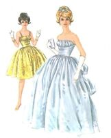 113 BOUFFANT BALL GOWN Pattern for Fashion Dolls