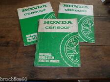 MANUEL REVUE TECHNIQUE D ATELIER HONDA CBR 600 F 1987-1990 shop manual cbr600f