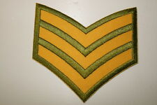 Sergeant  Stripes Embroidered Heat Sealed Patch P046