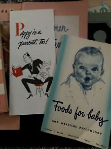 Vintage Baby Care Advertisements Gerber, Carnation, Heinz,Father Guide 1940's-50