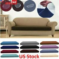 1-4 Seat Washed Waterproof Sofa Seat Cushion Cover Couch Stretchy Slipcovers US
