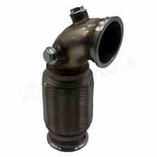 """Stainless 3"""" V-Band Downpipe Low Profile 90 Degree Flanged with Flex Bellow Pipe"""