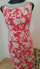 Plus Size women Jessica Howard coral and white dress 16W