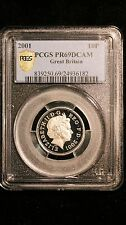 2001 Great Britain PCGS PR69 DCAM 10 Pence