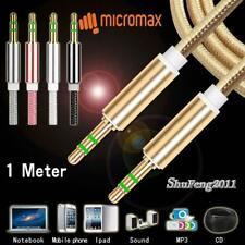 1M 3.5mm Jack Aux Cable Audio Lead MP3 PC Car Phone For Micromax Bharat 5 Pro