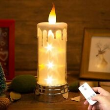 Candle Lamp Remote Control Battery LED Time Adjustable Birthday Gift Night Light