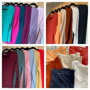 NEXT Ladies long sleeve cotton T shirt tops - various colours - sizes 6-28 NEW