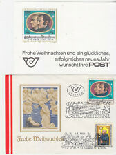 Austria FDCs 1987 & 88 on same cover + 87 card