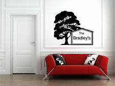 Personalized Family Name & Tree Wall Sticker Wall Art Decor Vinyl Decal Mural