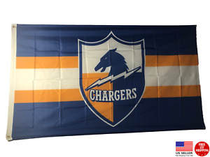 Los Angeles Chargers 3 x 5 Flag 2020 3x5 Banner LA Charger Old School Throw Back