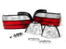 USA DEPO 97-98 BMW E36 4D SEDAN CLEAR CORNER+TAIL+SIDE MARKER LIGHT +CHROME BULB