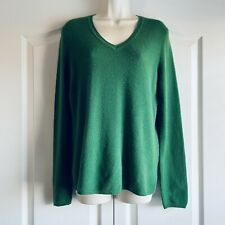 Charter Club Green 2 Ply Cashmere V Neck Pullover Jumper Sweater Size M