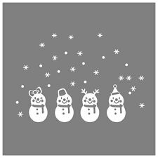 Lovely Window Decoration White Snowflake Merry Christmas Snowman Wall stick L2Z8