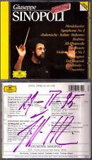 Giuseppe SINOPOLI Signed MENDELSSOHN Symphony 4 BRAHMS Alto Rhapsody FASSBAENDER