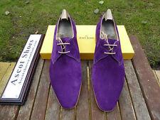 VT713 John Lobb - WILLOUGHBY - Regal Purple Suede - UK 8 EE - 8000 Last