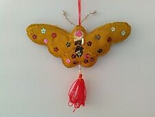 Double-Side Sequined and Beaded Charm Ornament, Butterfly
