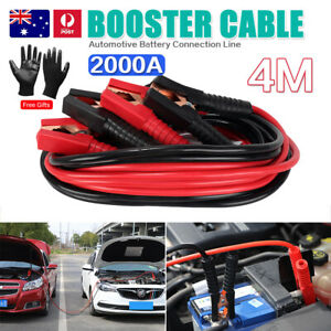 Heavy Duty 2000AMP Jumper Leads 4M Long Jump Car Booster Cable Car Truck Battery
