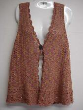 TALBOTS' Crochet/ Knit/Sweater/Vest-Long-Small - Multicolor Cot/Poly - washable