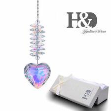 Hanging Crystal Heart Chandelier Pendant Faceted Glass Prism Ornament Suncatcher