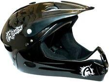 Apex Youth Full Face Helmet Downhill Dirt BMX MTB Bike 54-58cm Matt Black