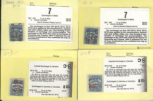 US, Amazing Playing card Revenue Stamps