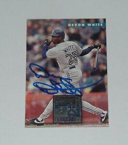 DEVON WHITE SIGNED AUTO'D 1996 DONRUSS CARD #464 TORONTO BLUE JAYS MARLINS