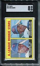 1967 Topps Baseball #569 Rod Carew Rookie Card RC Graded SGC NrMt Mint 8 Twins