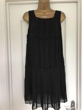 Ladies Stunning Black Ted Baker Dress/Tunic Size 3 (12)