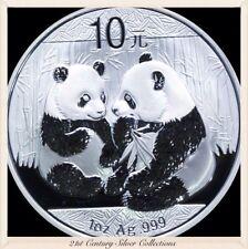 Frosty Gem 2009 1 Oz Chinese Silver Panda Coin .999 Pure 10 yuan