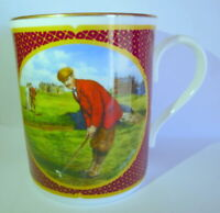 Royal Worcester England Golfing Golf Coffee Cup Signed Melvyn Buckley