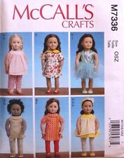 """18"""" GIRL DOLL CLOTHES McCall's Sewing Pattern # 7336 American Made NEW Uncut"""