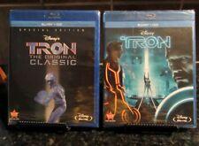 Tron Original & Tron Legacy (Blu-ray/DVD, 2011, 2-Disc Set, Special Edition) NEW