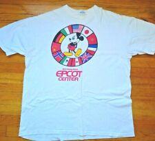 Vtg 80's Walt Disney World Epcot Center Xl Genuine Single Stitch Mickey Mouse