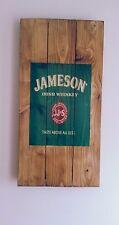 Jameson Irish Whisky Sign Christmas gift wooden sign  mancave shed bar pub