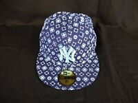 New Era 59fifty New York NY Yankees Size 7 1/4 Navy Light Blue Fitted Hat Cap