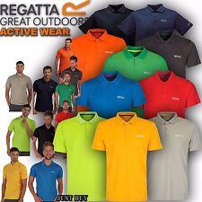 Regatta Polo Shirt Mens Maverik Hiking Walking Outdoor Summer Work Gym Sport Top