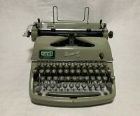 Rheinmetall KsT German Typewriter, 1956, with Case and Brushes and Key, PERFECT