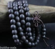108 8mm Natural Black Agilawood Thread Agalwood Prayer Beads Japa Mala Necklace