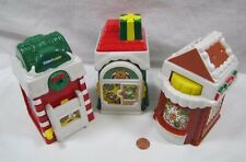 Fisher Price Little People CHRISTMAS HOLIDAY VILLAGE MAIN STREET Set of 3